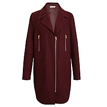 Buy John Lewis Longline Biker Coat Online at johnlewis.com