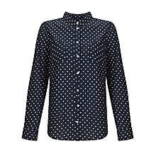 Buy John Lewis Spot Shirt, Navy/Ivory Online at johnlewis.com