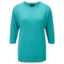 Buy VIyella Silk Blended Jumper, Aqua Online at johnlewis.com