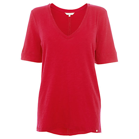 Buy Wishbone Jasmin Jersey T-shirt, Deep Pink Online at johnlewis.com