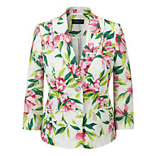 Buy Viyella Tropical Print Linen Jacket, Foxglove Online at johnlewis.com