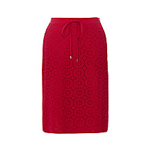 Buy Wishbone Sky Broderie Skirt, Deep Pink Online at johnlewis.com