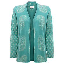 Buy East Paisley Edge to Edge Cardigan, Duck Egg Online at johnlewis.com