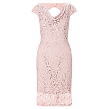 Buy Adrianna Papell Illusion Lace Dress, Putty Online at johnlewis.com