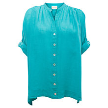 Buy East Oversized Gauze Shirt, Aqua Online at johnlewis.com