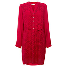 Buy Wishbone Orly Broderie Tunic Dress, Deep Pink Online at johnlewis.com