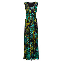 Buy Viyella Leaf Print Jersey Dress, Midnight Online at johnlewis.com