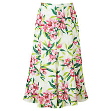 Buy Viyella Tropical Print Linen Skirt, Foxglove Online at johnlewis.com