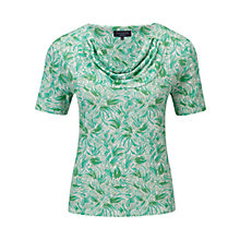Buy Viyella Petite Leaf Print Top, Amazon Online at johnlewis.com