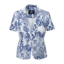 Buy Viyella China Print Jacket, White/Blue Online at johnlewis.com
