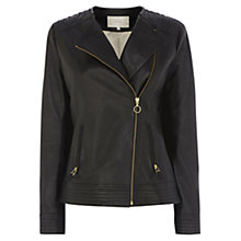 Buy Wishbone Leather Biker Jacket Online at johnlewis.com