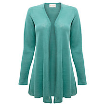 Buy East Linen Swing Cardigan, Duck Egg Online at johnlewis.com