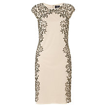 Buy Adrianna Papell Short Beaded Cocktail Dress, Champagne Online at johnlewis.com