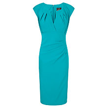 Buy Adrianna Papell Side Pleat Shift Dress, Aqua Online at johnlewis.com