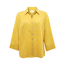 Buy East Roma Linen Shirt, Daffodil Online at johnlewis.com