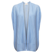 Buy East Sleeveless Linen Cardigan, Sky Online at johnlewis.com