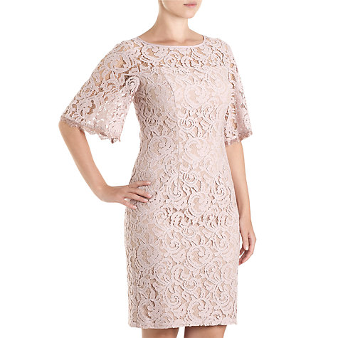Buy Adrianna Papell Flutter Sleeve Lace Dress, Putty Online at johnlewis.com