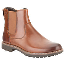 Buy Clarks Montacute Leather Chelsea Boots, Dark Tan Online at johnlewis.com