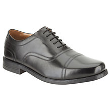 Buy Clarks Beeston Cap Leather Oxford Shoes, Black Online at johnlewis.com