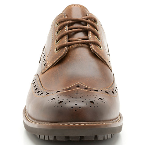 Buy Clarks Montacute Wing Leather Brogue Shoes, Dark Tan Online at johnlewis.com
