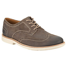Buy Clarks Raspin Brogue Shoes, Taupe Online at johnlewis.com