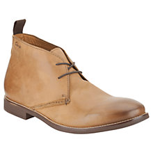 Buy Clarks Novato Mid Leather Chukka Boots, Tan Online at johnlewis.com