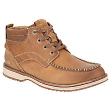 Buy Clarks Mahale Nubuck Chukka Boots, Tan Online at johnlewis.com