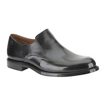 Buy Clarks Dorset Step Leather Slip-On Shoes, Black Online at johnlewis.com