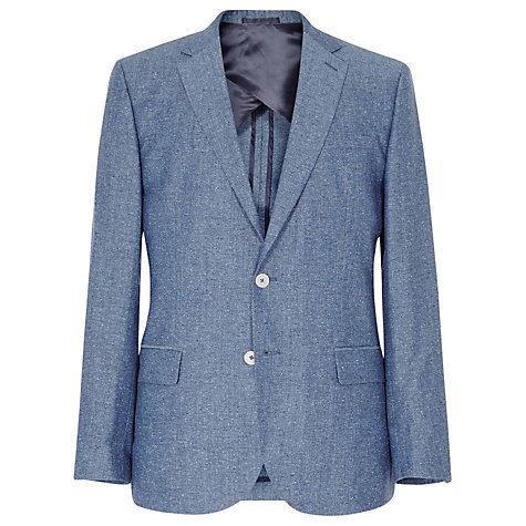 Buy Reiss William Flecked Slim-Fit Blazer, Navy Online at johnlewis.com