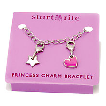 Buy Start-right Princess Serena Charm Bracelet, Silver/Pink Online at johnlewis.com