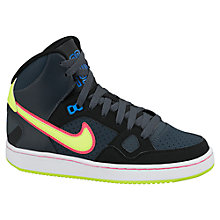 Buy Nike Childrens' Son of Force Mid Trainers, Dark Grey Online at johnlewis.com