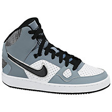 Buy Nike Son of Force High Top Trainers, Grey Online at johnlewis.com