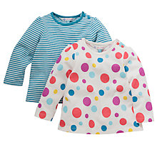 Buy John Lewis Spot and Stripe Tops, Pack of 2, Multi Online at johnlewis.com