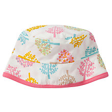 Buy Pigeon Reversible Tree Print Hat, Pink/Multi Online at johnlewis.com