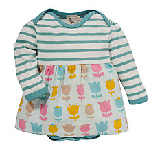 Buy Pigeon Floral & Stripe Bodysuit Dress, Blue/Multi Online at johnlewis.com