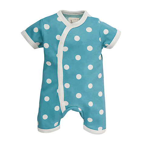 Buy Pigeon Polka Dot Romper, Blue Online at johnlewis.com