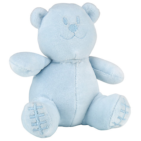 Buy Emile et Rose Baby Denny Bear Sleepsuit Set & Plush Toy, Blue Online at johnlewis.com