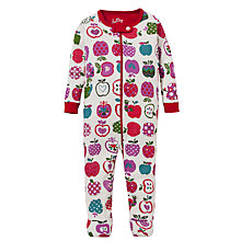 Buy Hatley Baby Apple Print Sleepsuit, Cream/Multi Online at johnlewis.com