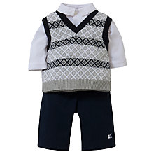 Buy Emile et Rose Baby Drake Outfit Set & Plush Toy, Navy/Grey Online at johnlewis.com