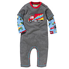 Buy Hatley Baby 2 in 1 Big Truck Romper, Grey Online at johnlewis.com