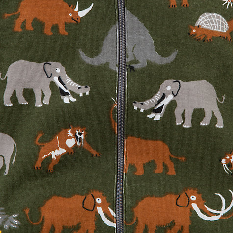 Buy Hatley Baby Prehistoric Animal Sleepsuit, Green Online at johnlewis.com