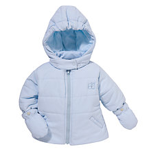 Buy Emile et Rose Baby Doran Padded Coat with Mittens, Pale Blue Online at johnlewis.com