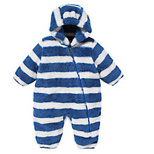 Buy Hatley Baby Stripe Fleece Snugglesuit, Blue/White Online at johnlewis.com