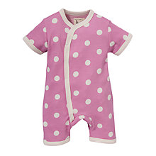 Buy Pigeon Polka Dot Romper, Pink Online at johnlewis.com