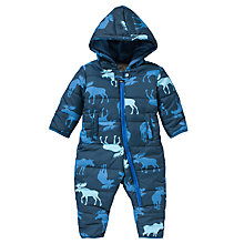 Buy Hatley Baby Moose Print Snowsuit,Navy Online at johnlewis.com