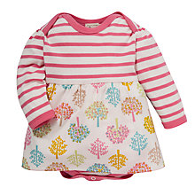 Buy Pigeon Tree & Stripe Bodysuit Dress, Pink/Multi Online at johnlewis.com