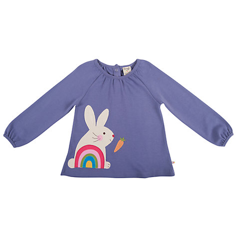 Buy Frugi Childrens' Ella Top, Purple Online at johnlewis.com