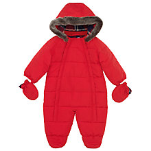 Buy John Lewis Wadded Snowsuit, Red Online at johnlewis.com