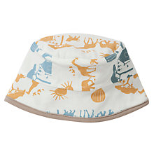 Buy Pigeon Reversible Safari Print Hat, Yellow/White Online at johnlewis.com