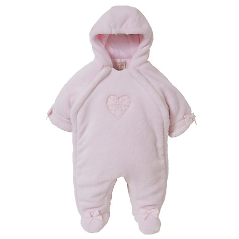 Buy Emile et Rose Baby Delma Heart Snowsuit, Pink Online at johnlewis.com